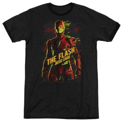 Justice League Movie The Flash Black Ringer Shirt