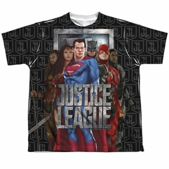 Justice League Movie The League Sublimation Youth Shirt Front/Back