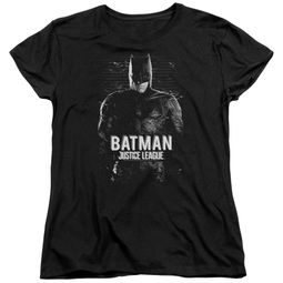 Justice League Movie Womens Shirt Batman Profile Black T-Shirt