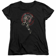 Justice League Movie Womens Shirt Cyborg Black T-Shirt
