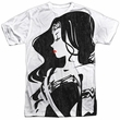 Justice League Movie Wonder Woman Profile Sublimation Shirt Front/Back Print