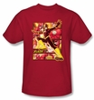 Justice League Superheroes T-shirt – Flash Adult Red Tee