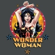 Justice League T-shirt Wonder Woman Powerful Charcoal Tee