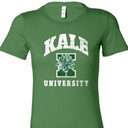 Kale University Darks Ladies Yoga Shirts