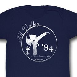 Karate Kid Shirt 84 All Valley Adult Navy Tee T-Shirt