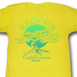 Karate Kid Shirt Bonsai Tree Adult Yellow Tee T-Shirt