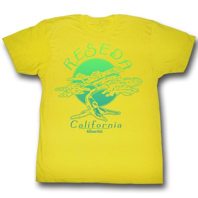 476f1128 Karate Kid Shirt Bonsai Tree Adult Yellow Tee T-Shirt