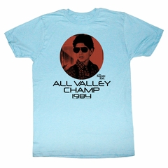 Karate Kid Shirt Champ 1984 Adult Light Blue Tee T-Shirt