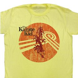 Karate Kid Shirt Crouching Adult Yellow Tee T-Shirt