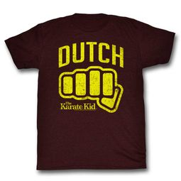 Karate Kid Shirt Dutch Maroon T-Shirt