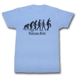 Karate Kid Shirt Evolution Light Blue T-Shirt