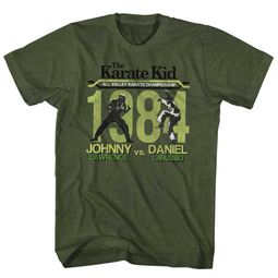 Karate Kid Shirt Final Match Olive Green T-Shirt