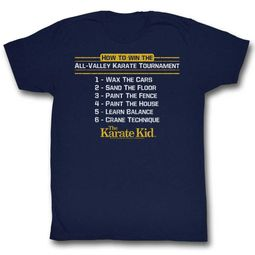 Karate Kid Shirt How To Win Navy T-Shirt