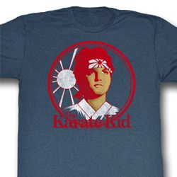 Karate Kid Shirt Karate Kid Adult Heather Blue Tee T-Shirt