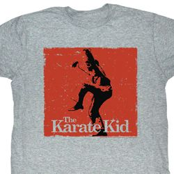 Karate Kid Shirt Karate Stand Adult Grey Tee T-Shirt