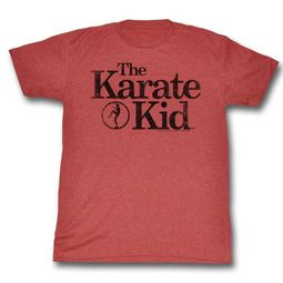 Karate Kid Shirt Logo Red Heather T-Shirt