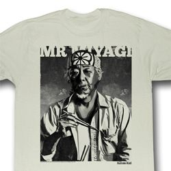 Karate Kid Shirt Miyagi Adult Natural Tee T-Shirt