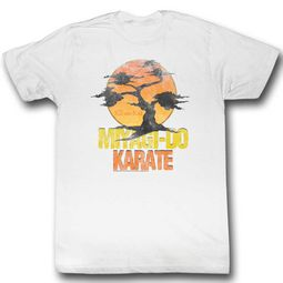 Karate Kid Shirt Miyagi Bonzai Tree White T-Shirt