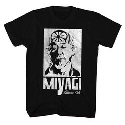 Karate Kid Shirt Miyagi Poster Black T-Shirt
