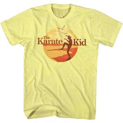 Karate Kid Shirt On The Beach Yellow T-Shirt
