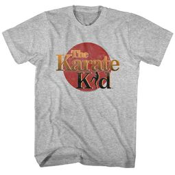 Karate Kid Shirt Red Sun Logo Athletic Heather T-Shirt