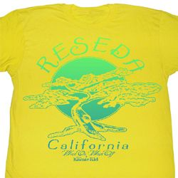 Karate Kid Shirt Reseda Adult Yellow Tee T-Shirt