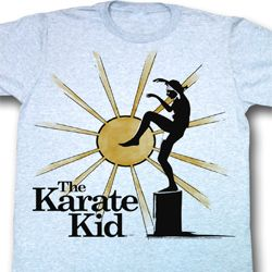 Karate Kid Shirt Rising Sun Adult Light Blue Tee T-Shirt
