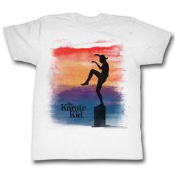 Karate Kid Shirt Sunset Crane White T-Shirt
