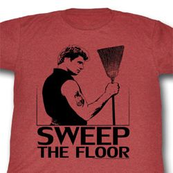 Karate Kid Shirt Sweep the Floor Adult Red Tee T-Shirt