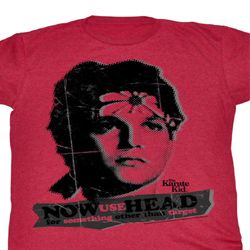 Karate Kid Shirt Use Head Adult Red Heather Tee T-Shirt
