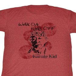 Karate Kid Shirt Wax on Miyagi Adult Salmon Tee T-Shirt
