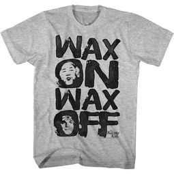 Karate Kid Shirt Wax On Wax Off Athletic Heather T-Shirt