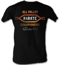 Karate Kid T-Shirt � All Valley Adult Black Tee Shirt