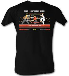 Karate Kid T-Shirt � Fight2 Adult Black Tee Shirt