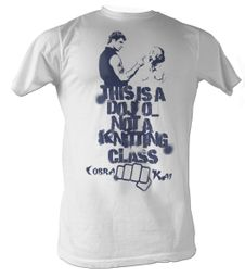 Karate Kid T-Shirt - Knitting Class Adult White Tee Shirt