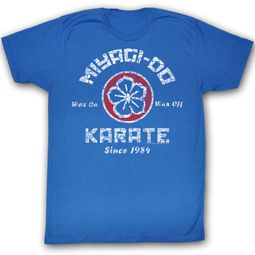 Karate Kid T-Shirt Movie New MDK Adult Royal Blue Tee Shirt