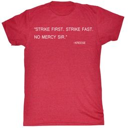 Karate Kid T-Shirt Movie Strike Hard Adult Red Heather Tee Shirt
