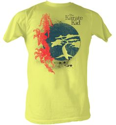 Karate Kid T-Shirt - Red Dragon Adult Yellow Tee Shirt