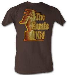 Karate Kid T-Shirt - Retro Kid Adult Brown Tee Shirt