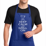 Keep Calm Grill On Aprons