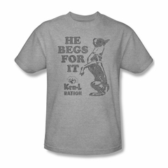 Ken L Ration Shirt Beg For It Athletic Heather T-Shirt