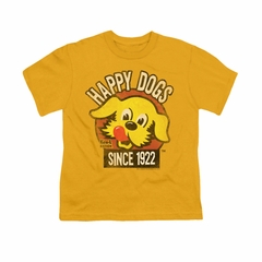 Ken L Ration Shirt Kids Happy Dogs Gold T-Shirt