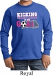 Kicking Breast Cancer is Our Goal Kids Long Sleeve Shirt