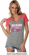Kicking Breast Cancer is Our Goal Ladies Contrast V-Neck Shirt