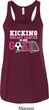 Kicking Breast Cancer is Our Goal Ladies Flowy Racerback Tanktop