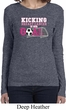 Kicking Breast Cancer is Our Goal Ladies Long Sleeve Shirt