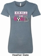 Kicking Breast Cancer is Our Goal Ladies Longer Length Shirt