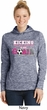 Kicking Breast Cancer is Our Goal Ladies Moisture Wicking Hoodie