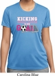 Kicking Breast Cancer is Our Goal Ladies Moisture Wicking Shirt