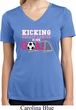 Kicking Breast Cancer is Our Goal Ladies Moisture Wicking V-neck Shirt